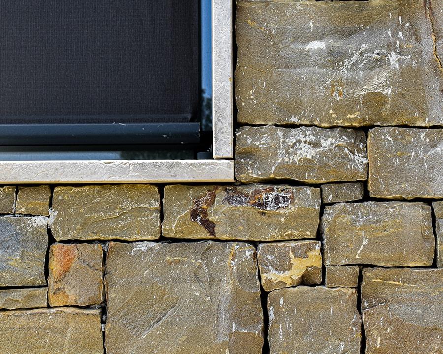 Cladded façade