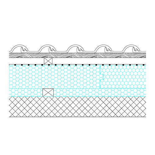 Massive roof - basic section